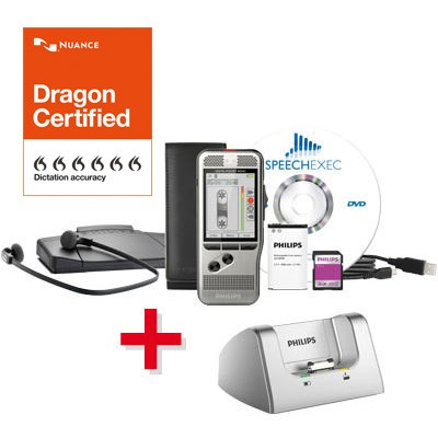Spar-Set! PHILIPS Digital Starter Kit 7700: DPM 7200 und SpeechExec Transcription Set + Dockingstati