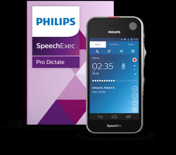 Philips SpeechAir Diktier- und Spracherkennungsset
