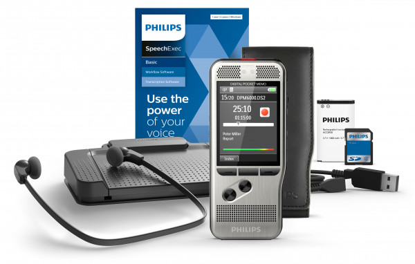 PHILIPS Diktiergerät DPM 7200 Starterkit und SpeechExec Transcription Set 7177