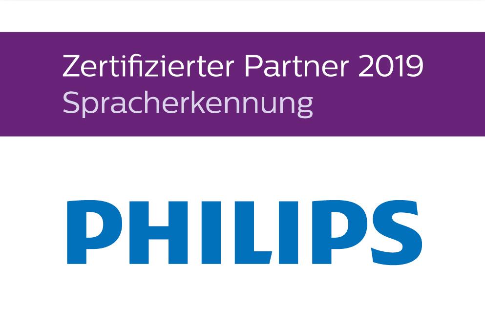 PHILIPS - Zertifizierter Partner 2019 - Spracherkennungslösungen