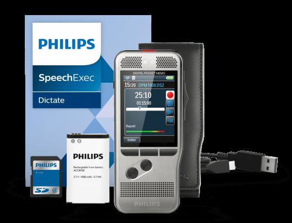 PHILIPS Diktiergerät DPM 7000 – Mit Einrastschalter