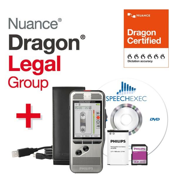 Spar-Set! PHILIPS Handdiktiergerät Digital Pocket Memo DPM 7200 + Dragon® LEGAL Group Spracherkennu