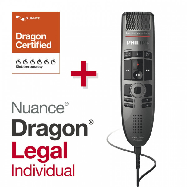 PHILIPS SpeechMike Premium Touch SMP 3700 + Dragon® Legal Individual 15