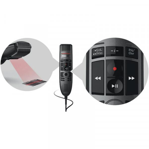 PHILIPS SpeechMike Premium Touch SMP 3800 mit Drucktasten & Barcode-Scanner