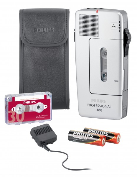 PHILIPS Diktiergeräte-Set Professional Pocket Memo 488