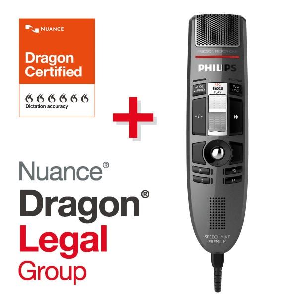 Spar-Set! PHILIPS SpeechMike Premium 3510 + Dragon® LEGAL Group Spracherkennungssoftware