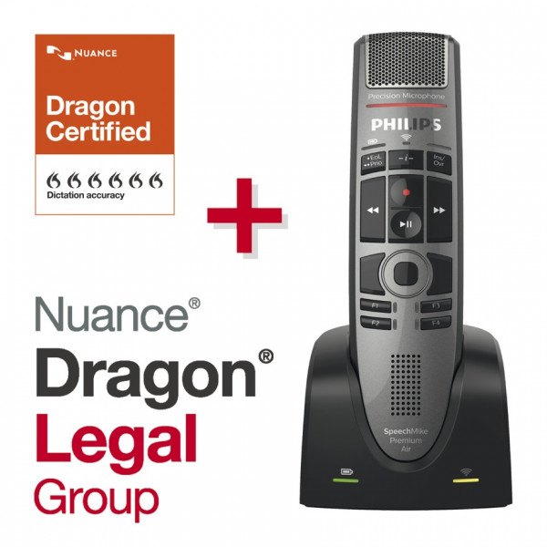 Spar-Set! SpeechMike Premium Air SMP 4000, Drucktaste + Dragon Legal Group 15
