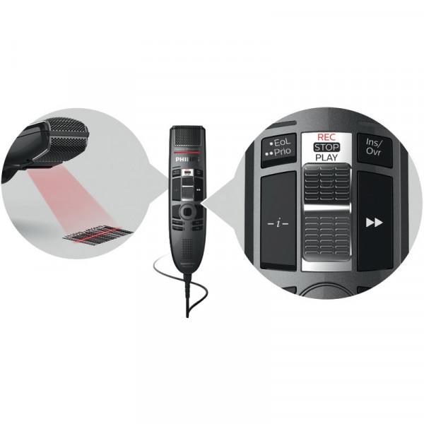 PHILIPS SpeechMike Premium Touch SMP 3810 mit Schiebeschalter & Barcode-Scanner