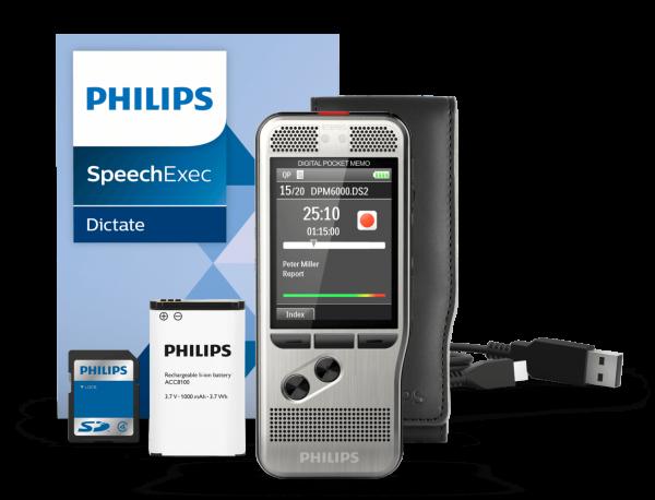 PHILIPS Diktiergerät DPM 6000, mit Tastensteuerung