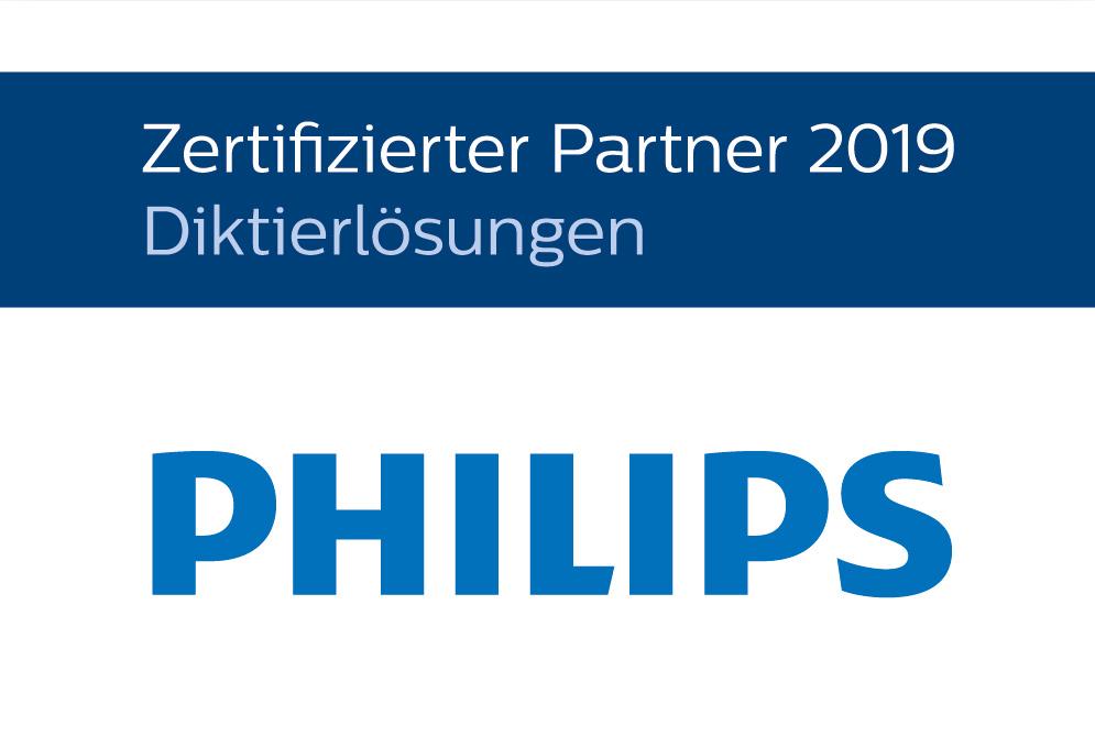 PHILIPS - Zertifizierter Partner 2019 - Professionelle Diktierlösungen