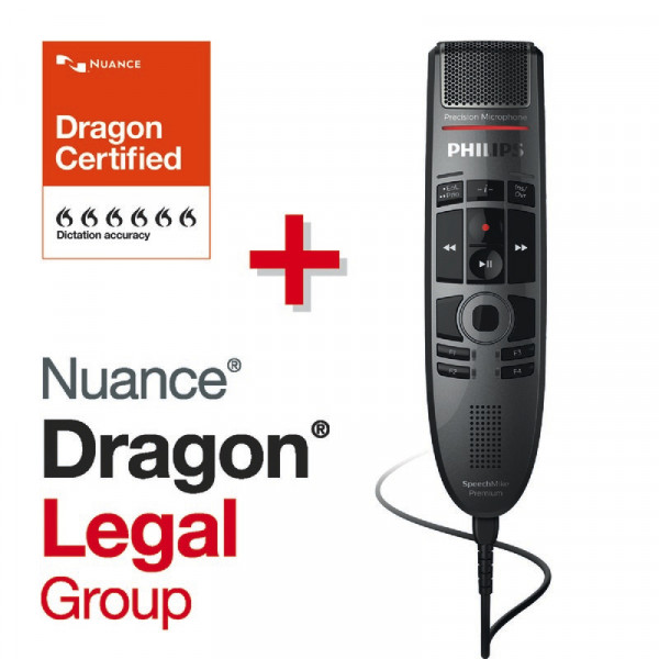 PHILIPS SpeechMike Premium Touch SMP 3700 + Dragon® Legal Group 15